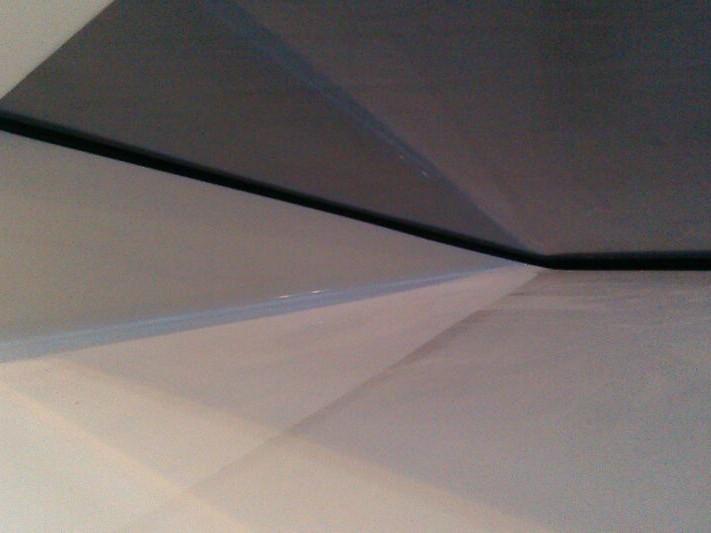 fertige Versiegelung (schwarze Fuge) / finished sealing (black joint)